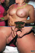 Spring Break upskirt pussy and tits flashing party Volume 026 Front